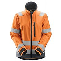 Snickers Softshell Damesjack AllroundWork High-Vis
