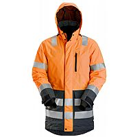 Snickers High-Vis Waterproof Parka, KL 3