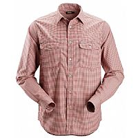 Snickers Checkered Comfort Shirt with Long Sleeves