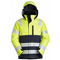 Snickers ProtecWork, Insulated Hood Jacket, High-Vis Class